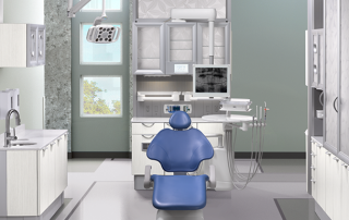 Dental Office Design Sky Blue Chair